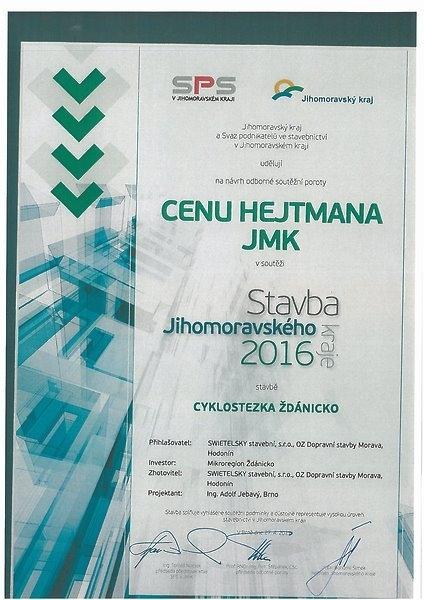 Stavba JMK 2016 - Cyklostezka Ždánicko