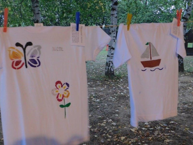 Malování triček - ukončení prázdnin
