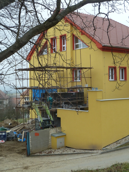 Stavba výtahu na obecním úřadě